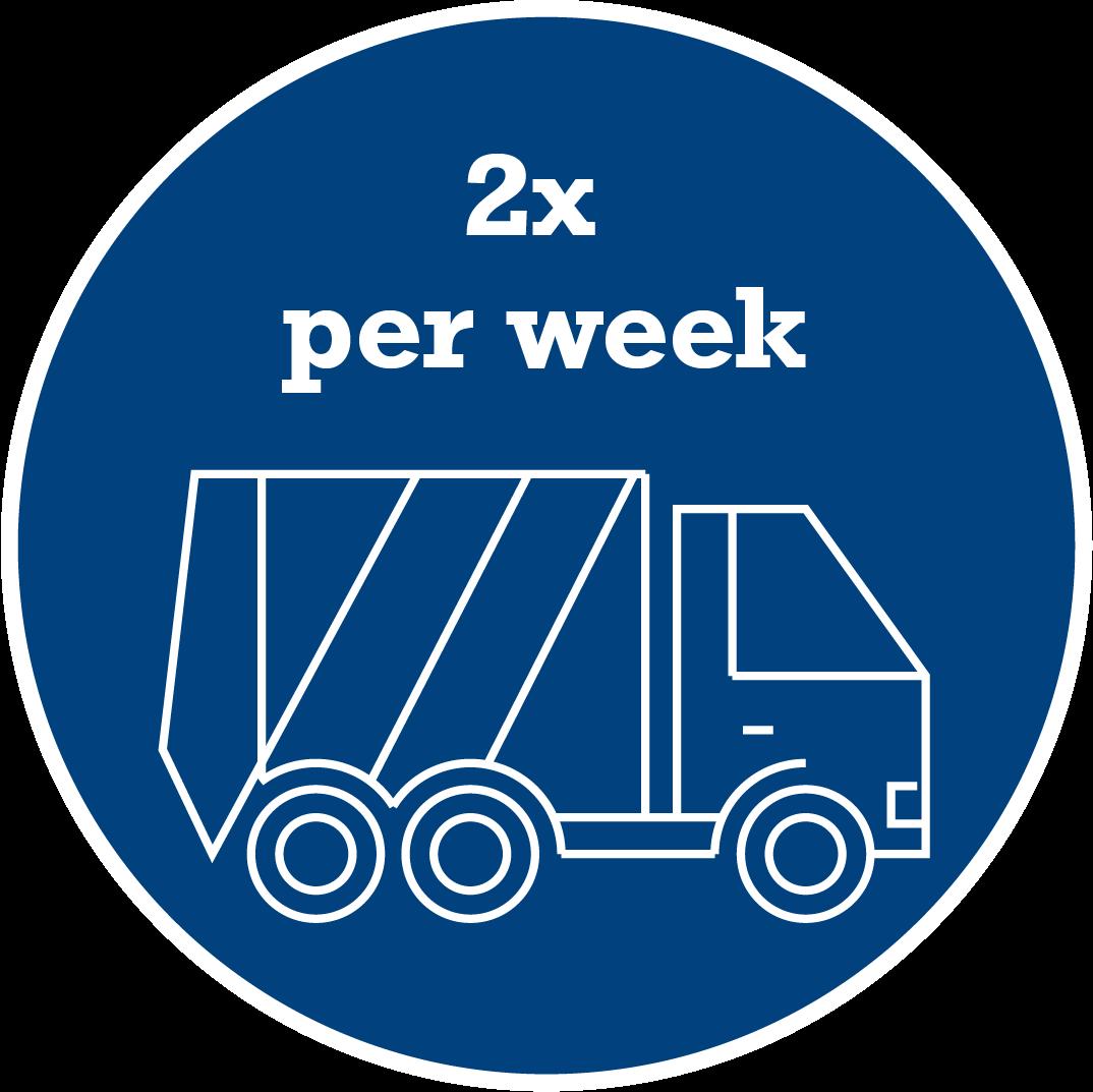2 x per week